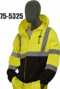 75-5325 Hi-Vis Zip Front Hooded Sweatshirt