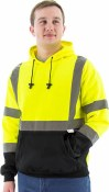 75-5327 Hi-Vis Hooded Pullover Sweatshirt