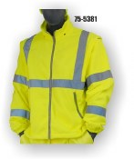 75-5381 Yellow Hi-Vis Fleece Zip Off Liner