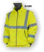 75-5381 Yellow Hi-Vis Fleece Zip Off Liner