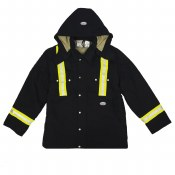 FR3807BK Reflective Heavy Coat