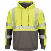 SMB4 FR High Visibility Color-Blocked Pullover Hooded Fleece Sweatshirt