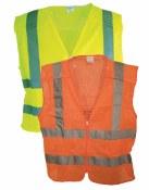 VEST4 5 Point, Class 2 Hi Vis, Zipper Front Mesh Vest
