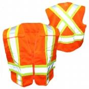 VEST45 High Visibility Cross Back Safety Vest