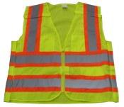 Vest52 High Visibility Class 2 5-Point Breakaway 2 Tone Vest