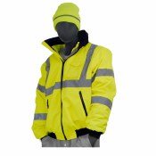 75-1301 Hi-Vis Yellow High Visibility DOT Rain Bomber Jacket