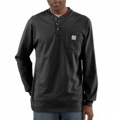 K128 Workwear Pocket Long Sleeve Henley