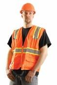 LUX-ATRANS Hi-Vis Classic Solid Surveyor Vest