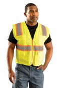 LUX-ATRNSM High Visibility Classic Mesh Surveyor Vest