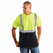 LUX-SSETPBK High Visibility Classic Black Bottom T-Shirt