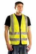 LUX-SSFS High Visibility Solid Surveyor Vest