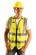 LUX-SSFULLZ High Visibility Premium Solid Full Surveyor Vest