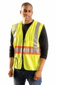 LUX-SSG2TZ High Visibility Premium Solid Two-Tone Expandable Vest