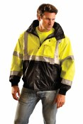 LUX-TJBJ-B High Visibility Four-Way Black Bottom Jacket