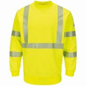 SMC4HV Hi-Vis Crewneck Fleece Sweatshirt