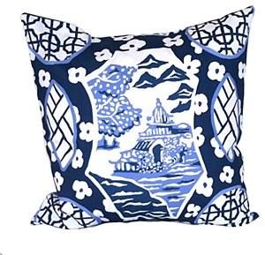 Pillow, Canton in Blue