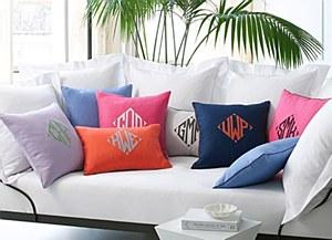 Insignia Pillow,Sky Blue w/ Na