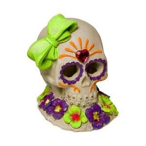 Sugar Skull Gem & Bow Ornament