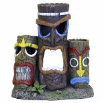 3 Tiki Head Statue