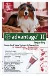 Advantage II Large Dog 4 Pack