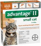 Advantage II Small Cat 4 Pack