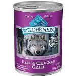 Blue Buffalo Wilderness Beef Chicken Can