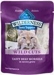 Blue buff wild cuts cat chic