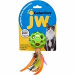 JW PET FEATHER BALL WITH BELL