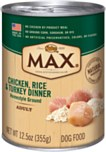 Nutro Max Dog Chicken Turkey & Rice Can