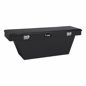 "60"" Deep Angled Crossover Truck Tool Box - Black"