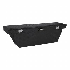 "72"" Deep Angled Crossover Truck Tool Box - Black"