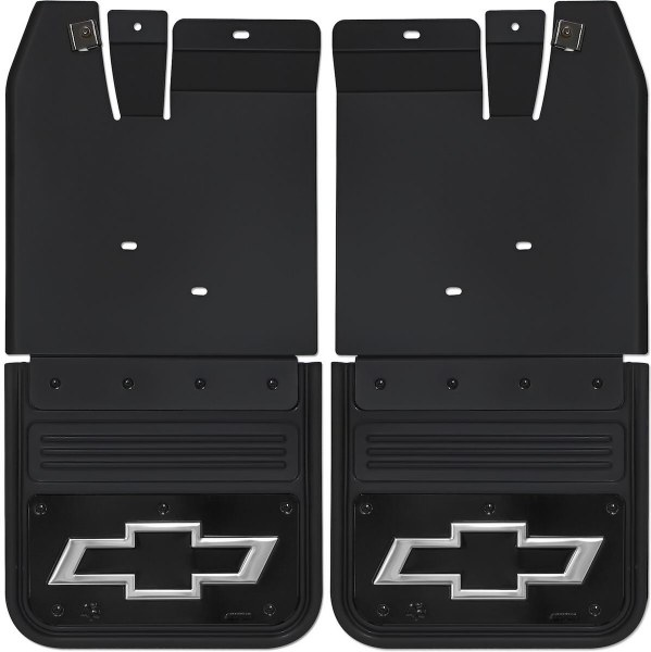 Gatorback Chevy Silverado High Country Truck Mud Flaps Front or Rear Pair Black Wrap