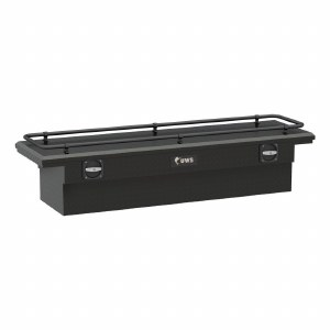 """69"""" Secure Lock Crossover Truck Tool Box with Low Profile and Rail - Black"""