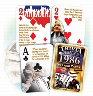 1986 Trivia Playing Cards
