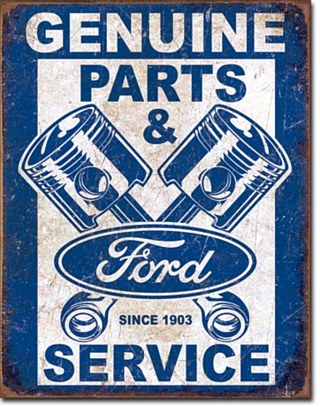 Ford Service Pistons Tin Sign