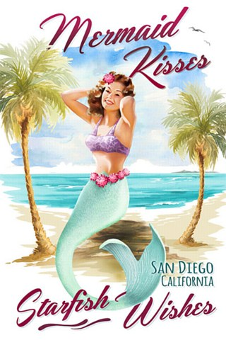 Mermaid Kisses Postcard