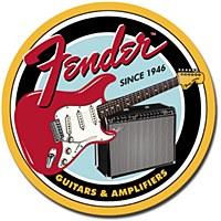 Fender Round G&a Tin Sign