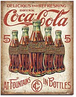Coke - 5 Bottles Retro Tin