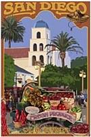 Old Town San Diego Postcard