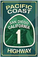 Pacific Coast Highway Keychain