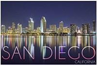 San Diego City Lights Postcard
