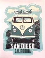 Sd Camper Van Large Sticker