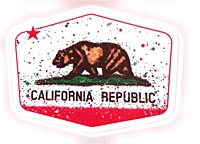 Ca Splatter Flag Lg Sticker