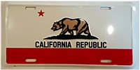 California State Flag Plate