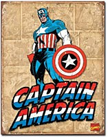 Capt. America Retro Panels Tin