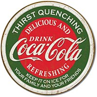 Coke Thirst Quenching Rnd Tin