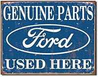 Ford Parts Used Here Tin