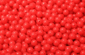 BEADS LARGE RED  /1000