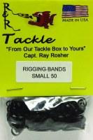 R&R RIGGING BAND BLACK 50 PACK