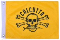 "CALCUTTA FLAG 12""X18"" YELLOW"